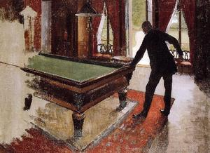 Gustave Caillebotte - Billiards (unfinished)