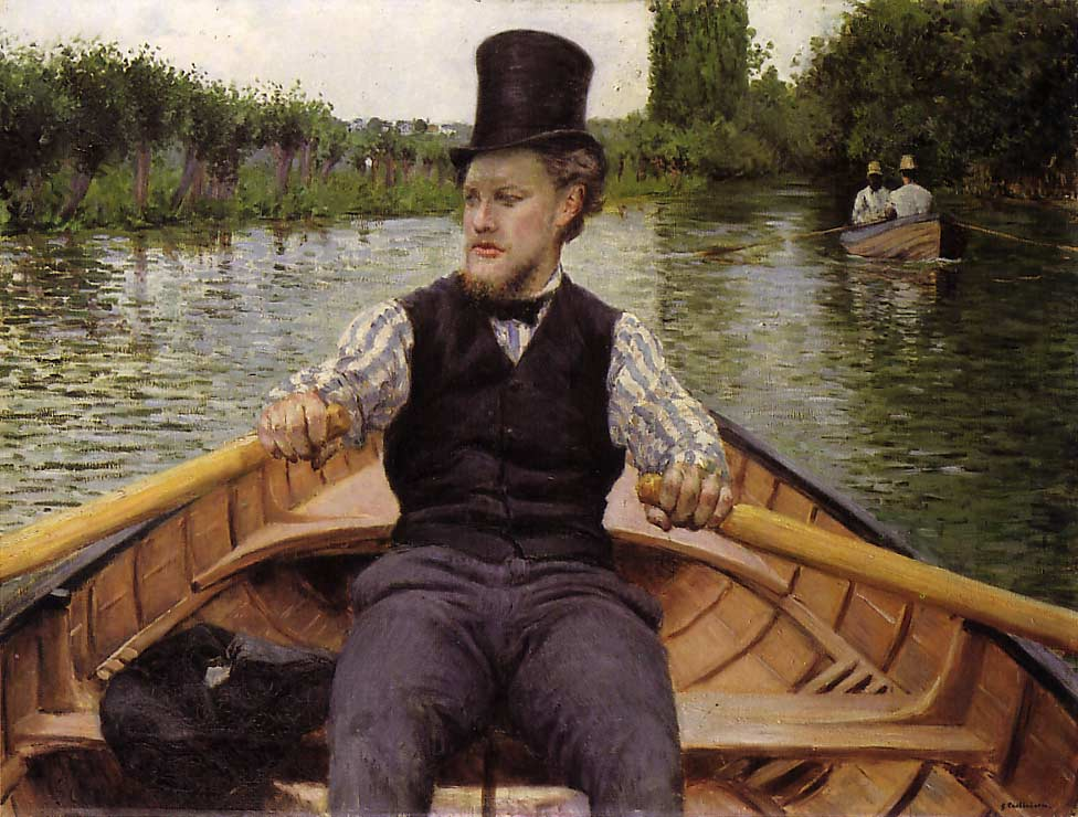 famous painting Boating Party of Gustave Caillebotte