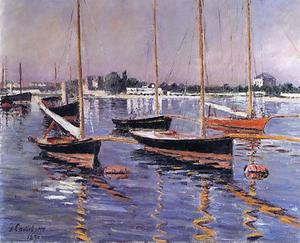 Gustave Caillebotte - Boats on the Seine at Argenteuil