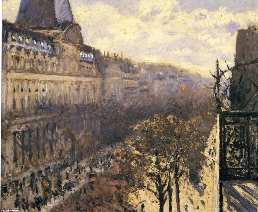 famous painting Boulevard des Italiens of Gustave Caillebotte