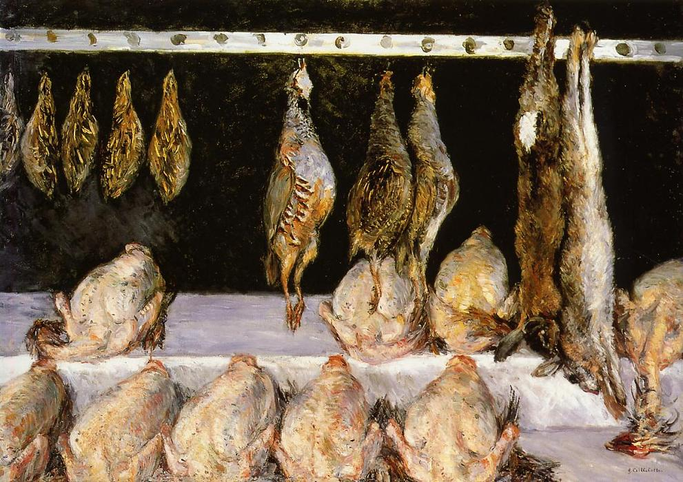 famous painting Display of Chickens and Game Birds of Gustave Caillebotte