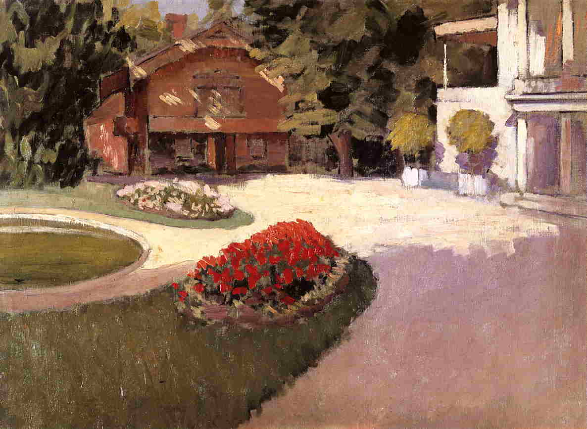 famous painting Garden at Yerres of Gustave Caillebotte