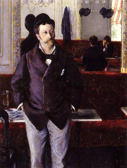 famous painting In a Cafe of Gustave Caillebotte