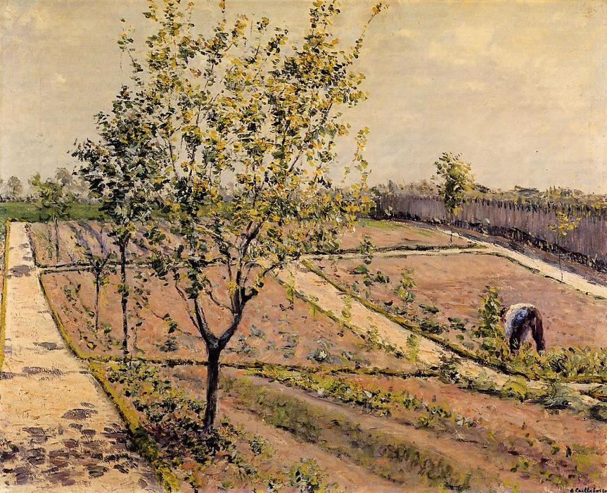 famous painting Kitchen Garden, Petit Gennevilliers of Gustave Caillebotte