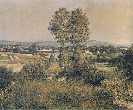 famous painting Landscape at Argenteuil of Gustave Caillebotte