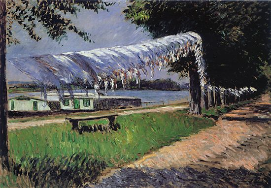 famous painting Laundry Drying of Gustave Caillebotte