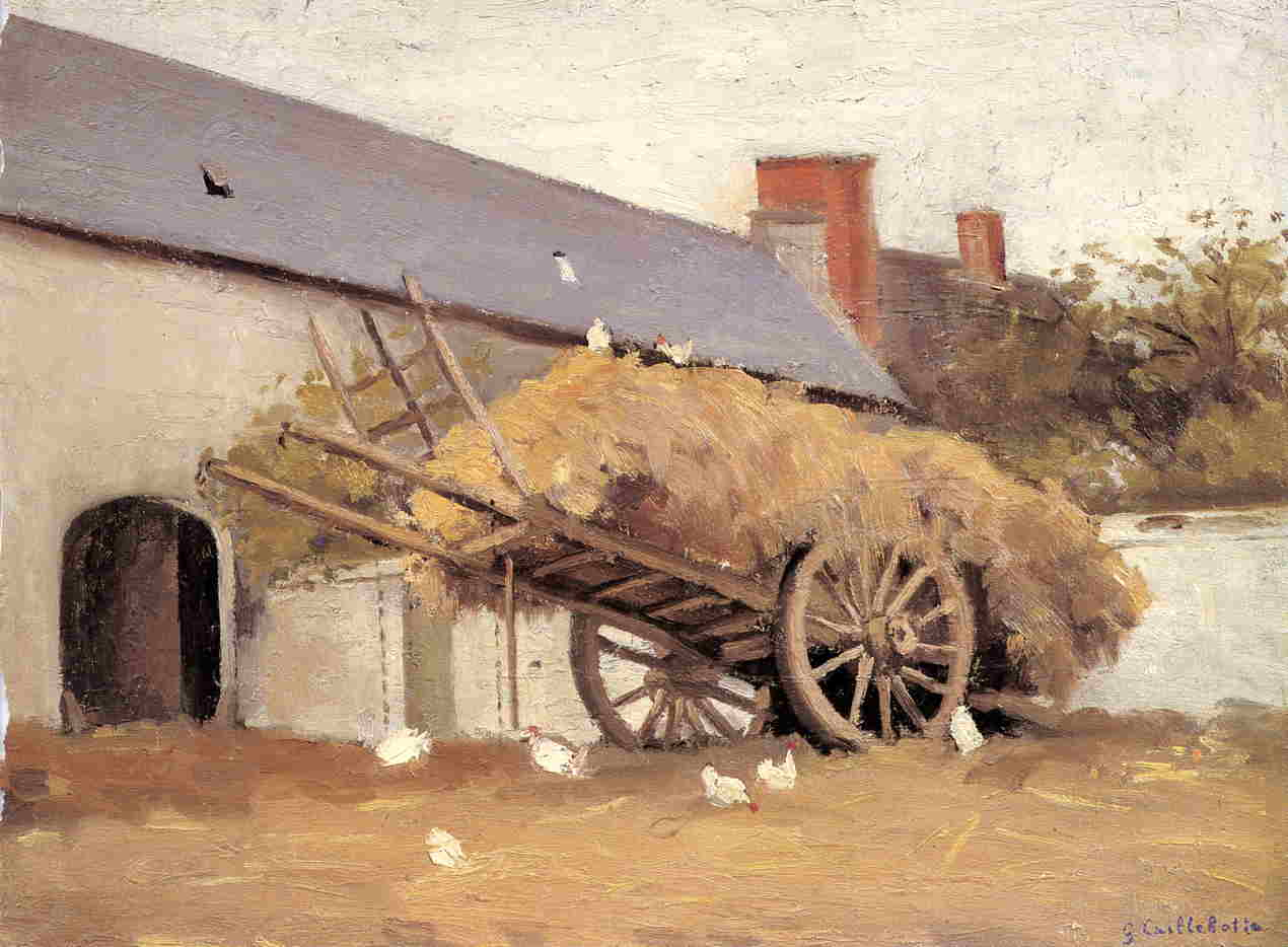famous painting Loaded Haycart of Gustave Caillebotte