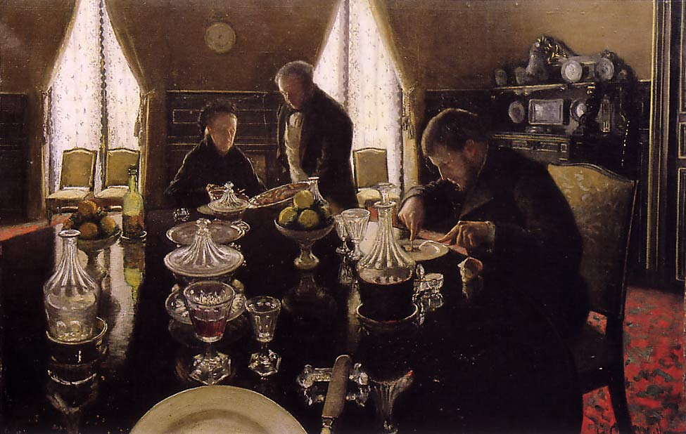 famous painting Luncheon of Gustave Caillebotte