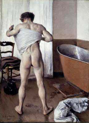 famous painting Man at His Bath of Gustave Caillebotte