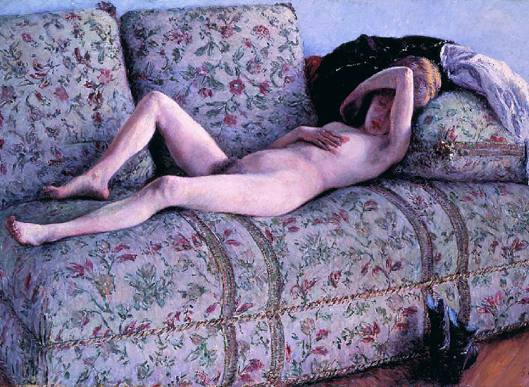 famous painting nud coucs of Gustave Caillebotte