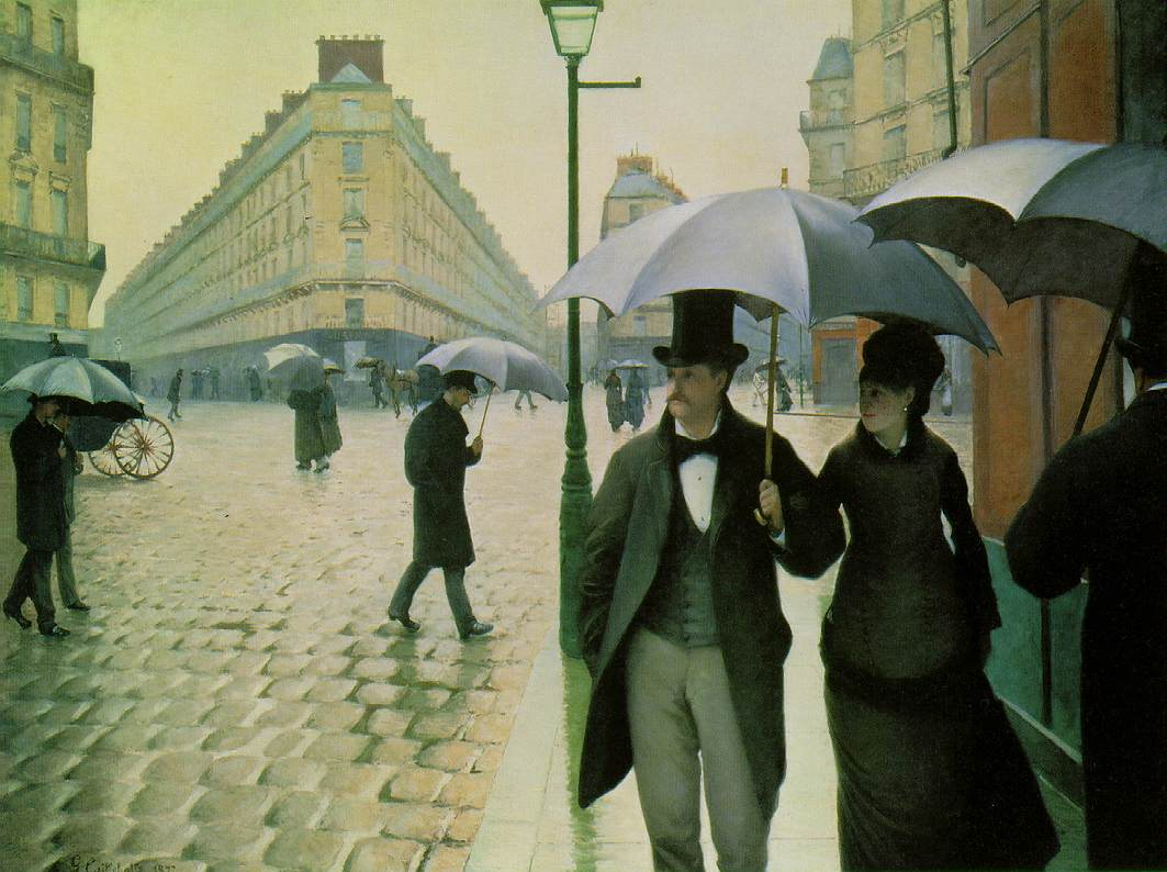 famous painting Paris street, Rainy Day of Gustave Caillebotte