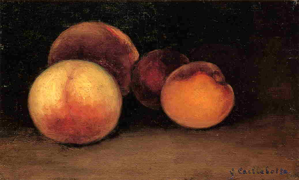 famous painting Peaches, Nectarines and Apricots of Gustave Caillebotte