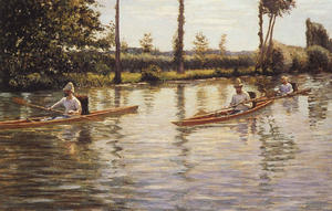 Gustave Caillebotte - Perissoires sur l'Yerres aka Boating on the Yerres