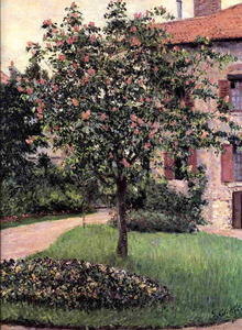 Gustave Caillebotte - Petit Gennevilliers, Facade, Southeast of the Artist's Studio, Overlooking the Garden, Spring