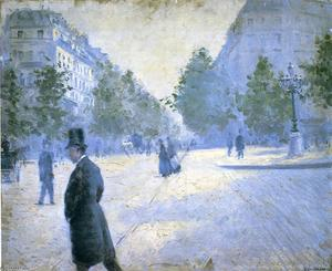 Gustave Caillebotte - Place Saint Augustin, Misty Weather