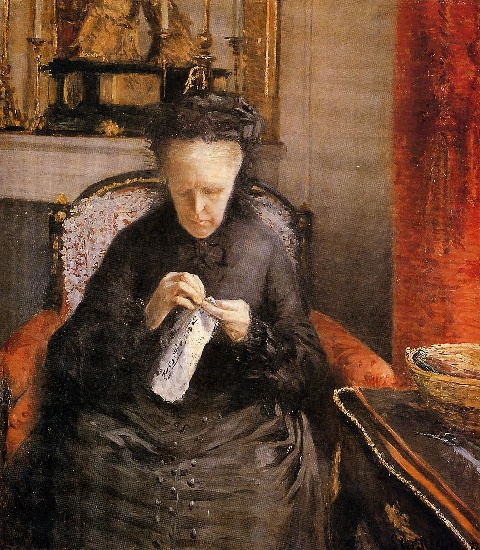famous painting Portait of Madame Martial Caillebote (the artist's mother) of Gustave Caillebotte