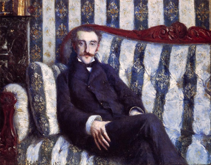 famous painting Portrait of a Man 02 of Gustave Caillebotte