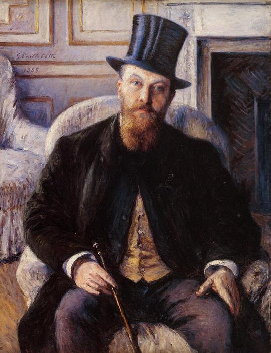 famous painting Portrait of Jules Dubois of Gustave Caillebotte