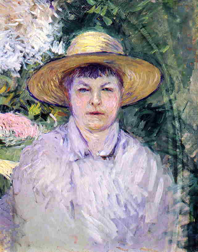 Buy Museum Art Reproductions Impressionism | Portrait of Madame Renoir by Gustave Caillebotte | TopImpressionists.com