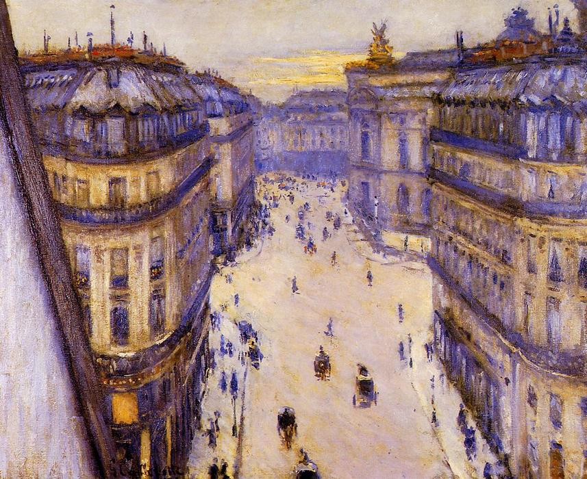 famous painting Rue Halevy, Seen from the Sixth Floor of Gustave Caillebotte