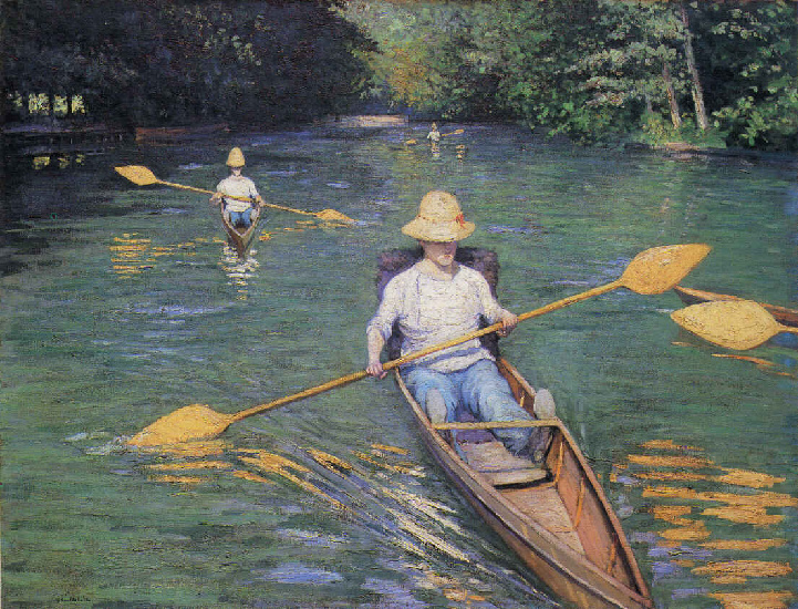 famous painting scolls of Gustave Caillebotte