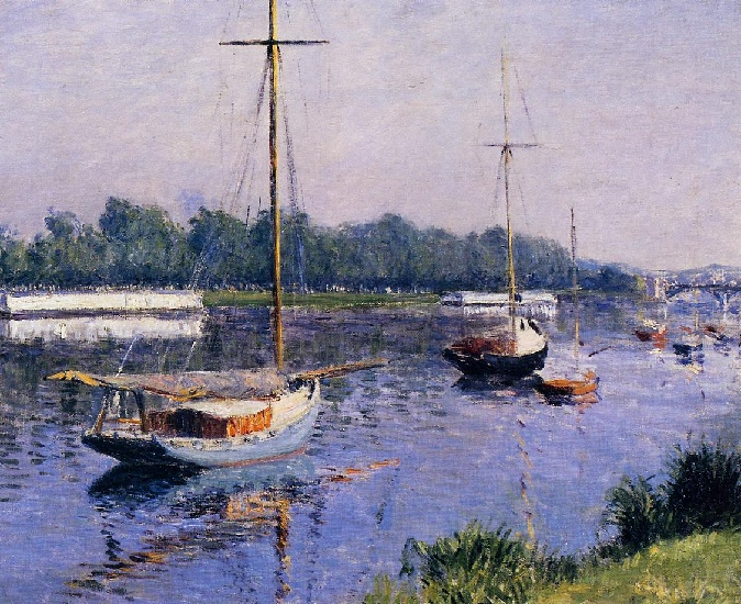 famous painting The Basin at Argenteuil of Gustave Caillebotte
