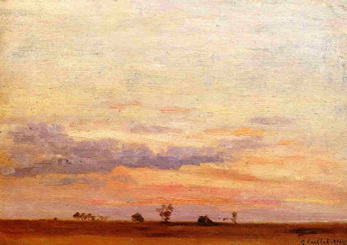 famous painting The Briard Plain of Gustave Caillebotte