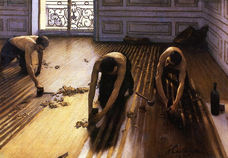 famous painting The Floor Scrapers aka The Floor Strippers of Gustave Caillebotte