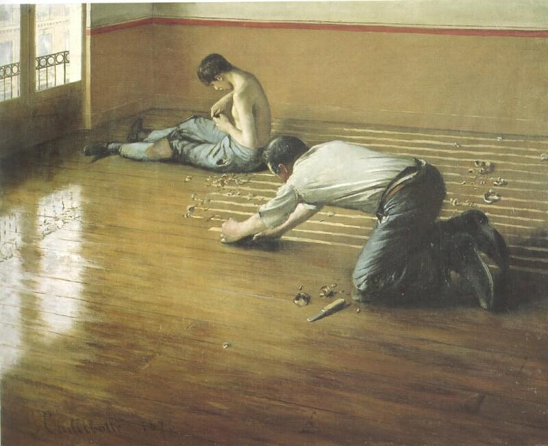 famous painting The Floor Scrapers of Gustave Caillebotte
