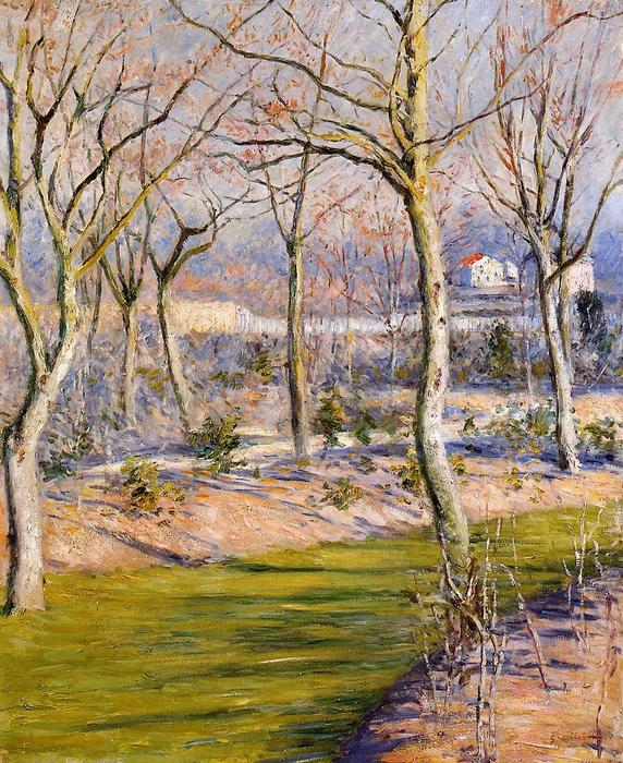 famous painting The Garden at Petit Gennevilliers in Winter of Gustave Caillebotte
