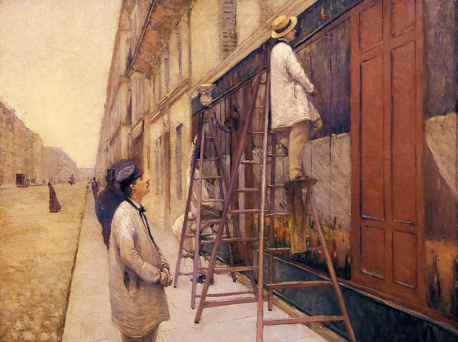 famous painting The House Painters of Gustave Caillebotte