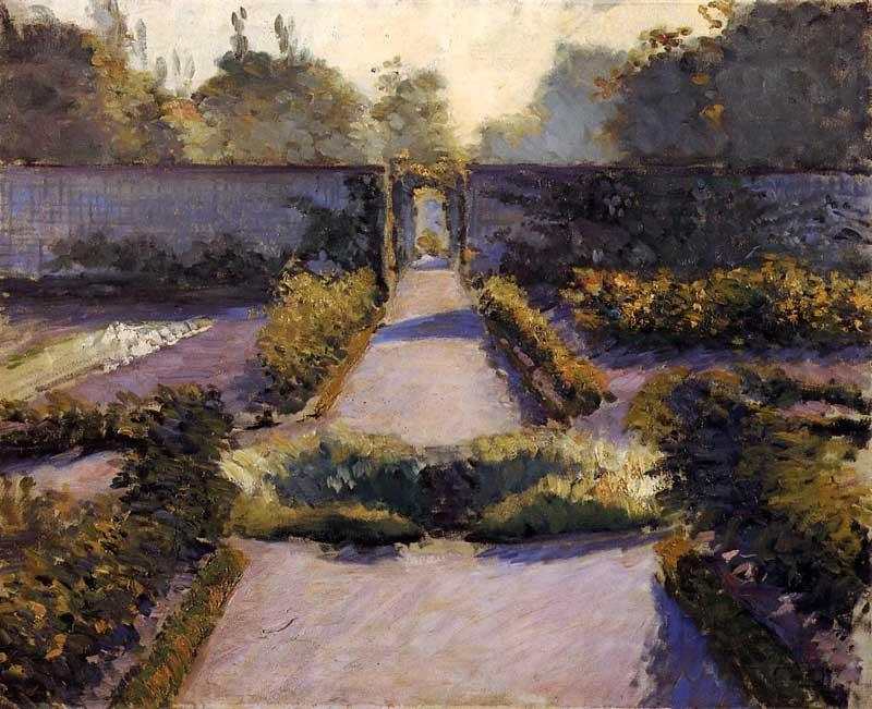 famous painting The Kitchen Garden, Yerres of Gustave Caillebotte