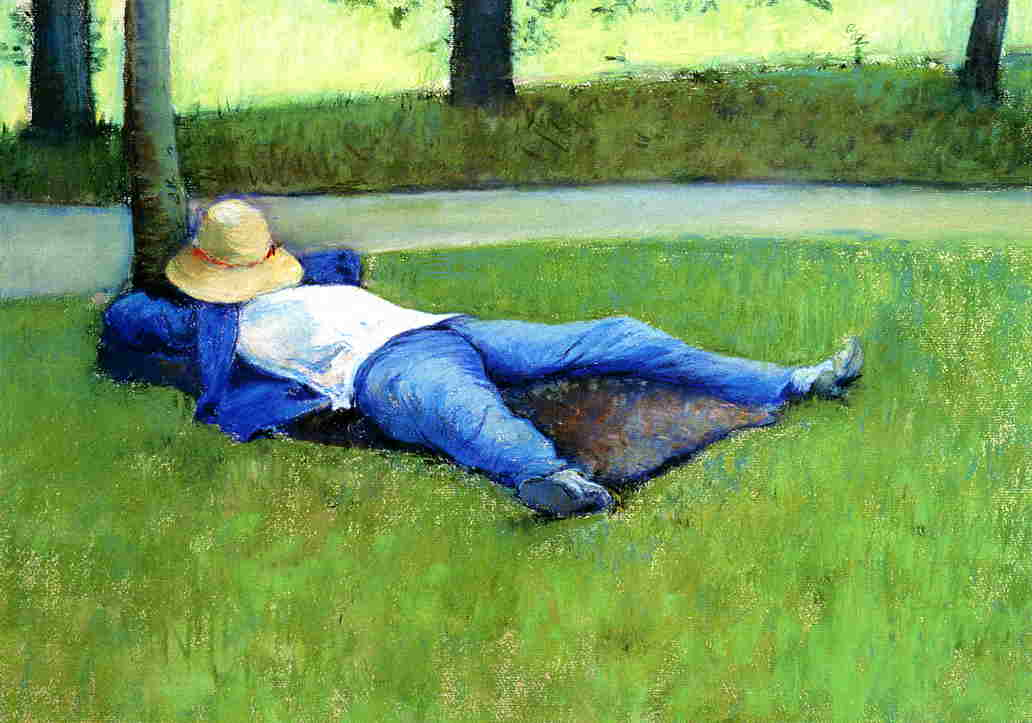 famous painting The Nap of Gustave Caillebotte