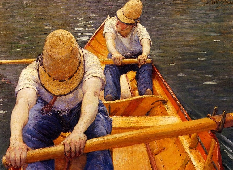 famous painting The Oarsmen of Gustave Caillebotte
