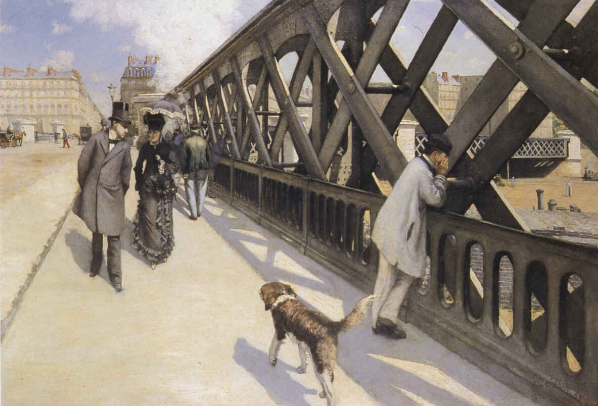 famous painting The Pont du Europe of Gustave Caillebotte