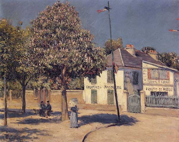 famous painting The Promenade at Argenteuil of Gustave Caillebotte