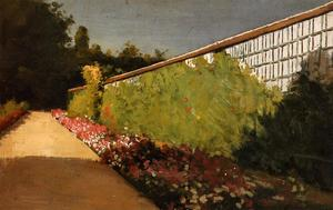 Gustave Caillebotte - The Wall of the Kitchen Garden, Yerres