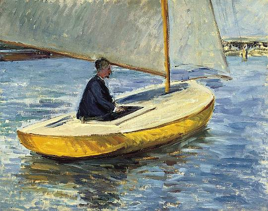 famous painting The Yellow Boat of Gustave Caillebotte