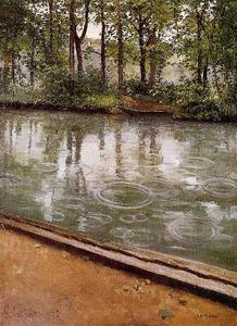 Gustave Caillebotte - The Yerres, Rain aka Riverbank in the Rain