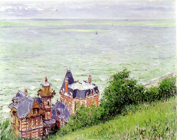 famous painting Villas at Trouville of Gustave Caillebotte