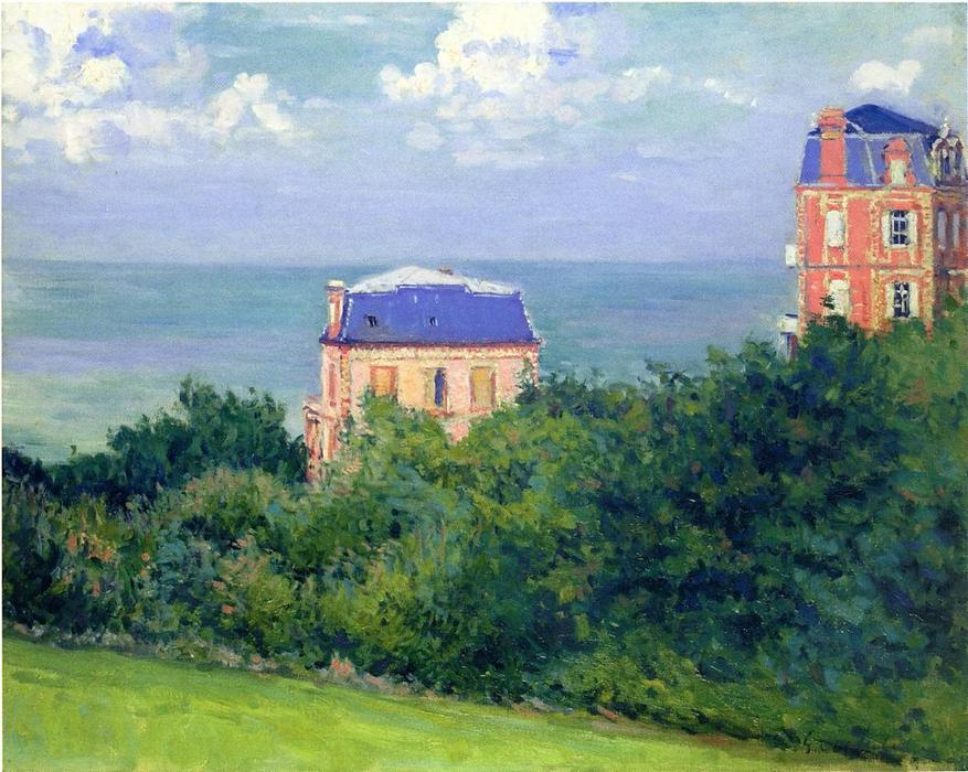 famous painting Villas at Villers sur Mer of Gustave Caillebotte