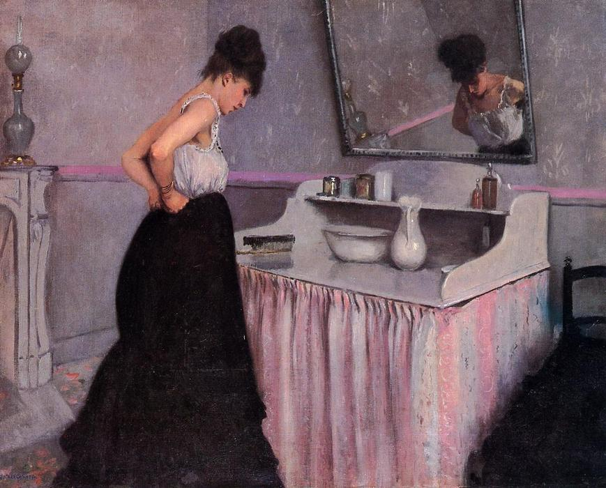 famous painting Woman at a Dressing Table of Gustave Caillebotte