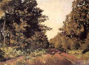 Gustave Caillebotte - Yerres, Woods at la Grange, Path of the Great 'Ha-Ha'