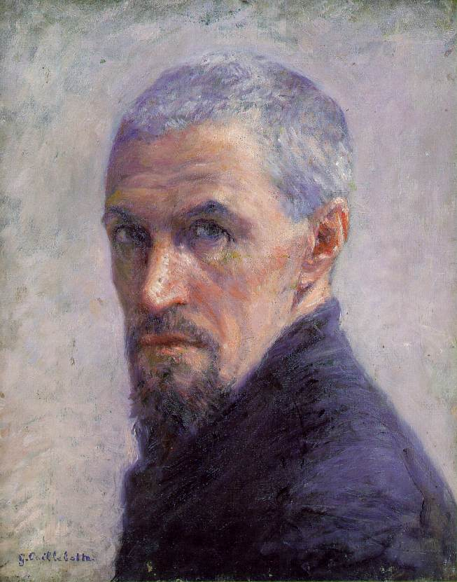 famous painting self of Gustave Caillebotte