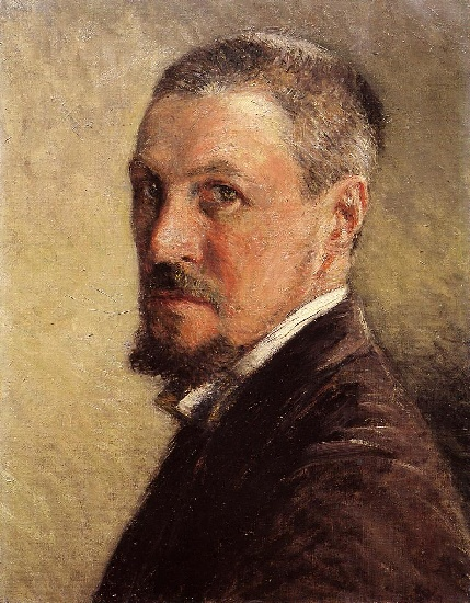 famous painting Self Portrait 01 of Gustave Caillebotte