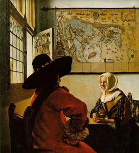 Jan Vermeer - Soldier and a Laughing Girl
