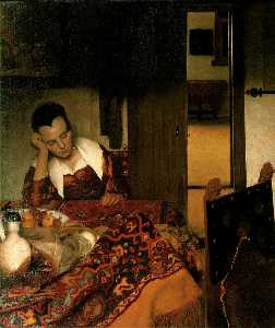Jan Vermeer - Girl asleep at a table