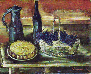Maurice De Vlaminck - The basket of grapes