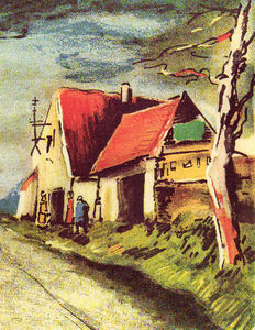 Maurice De Vlaminck - The road near Rueil