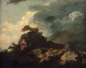 Jean-Honoré Fragonard - The Storm or The Cart Stuck in the Mire